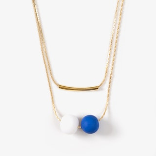 Pepa Bandera Necklace with Gold Chain