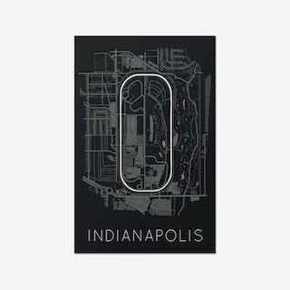 The Brickyard - Indianapolis Motor Speedway Race Track Print
