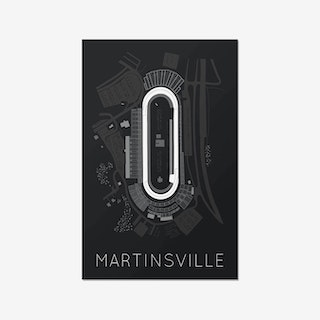 The Paperclip - Martinsville Speedway Race Track Print