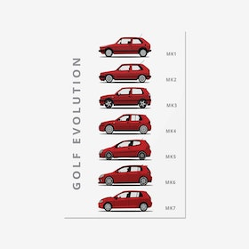 Volkswagen Golf -  Car Print