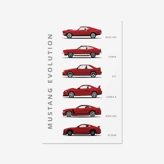 Ford Mustang Generations - Car Print