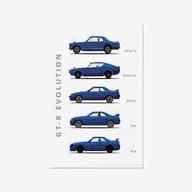 Nissan Skyline - Car Print