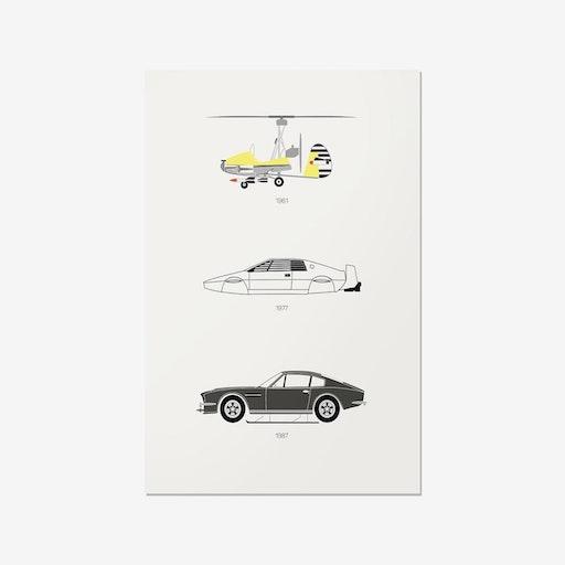 Live and Let Drive - James Bond Print