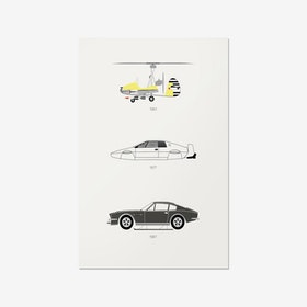 Live and Let Drive - James Bond Print