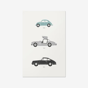 From the Alps to the Autobahn - German Print