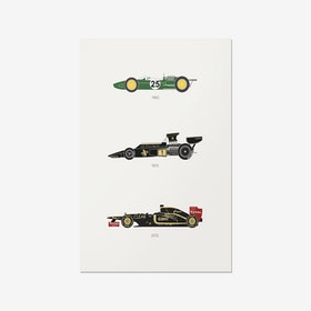 Define the Raceway – Lotus F1 Print
