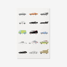Film Classics – Movie Car Print