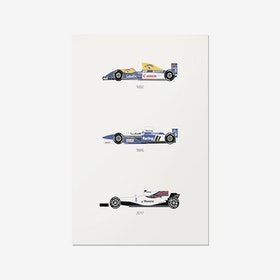 A Race to the Finish – Williams F1 Print