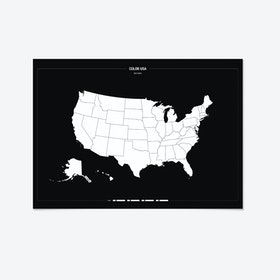 COLOUR IN USA Map