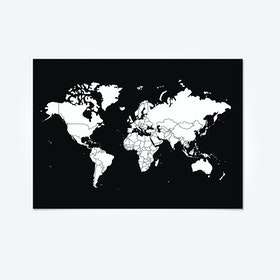 GO WORLD Sticker Peel Map