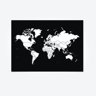 GO WORLD Sticker Peel Map