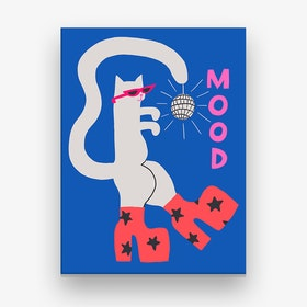 Mood Cat Canvas Print