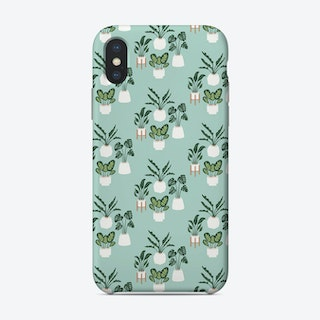 Indoor Jungle Repeat Blue Phone Case