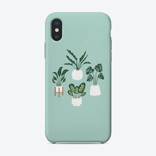 Indoor Jungle Blue Phone Case