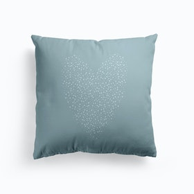 Full Of Love Blue Cushion
