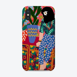 Hawaiian Girl On A Balcony Phone Case