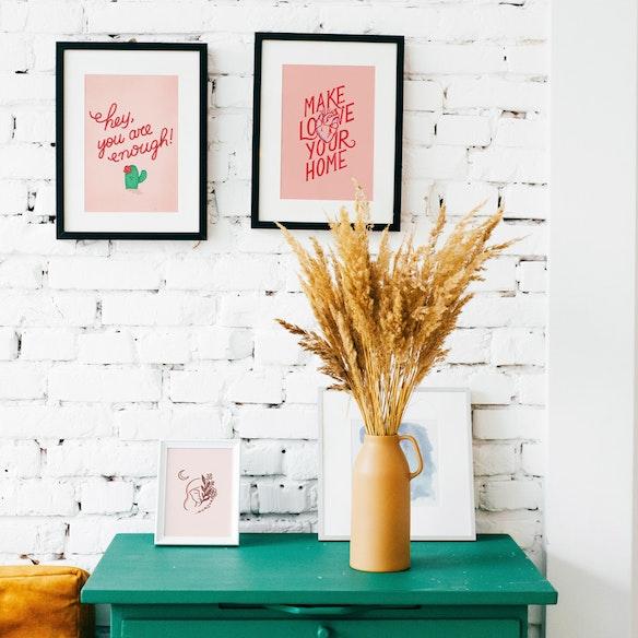 Make Love Your Home Art Print
