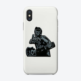 Johnny Cash White Phone Case