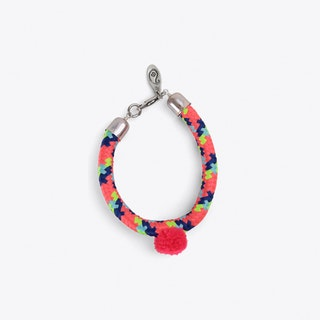 Pom Pom Statement Bracelet in Pink
