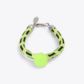 Pom Pom Statement Bracelet in Yellow