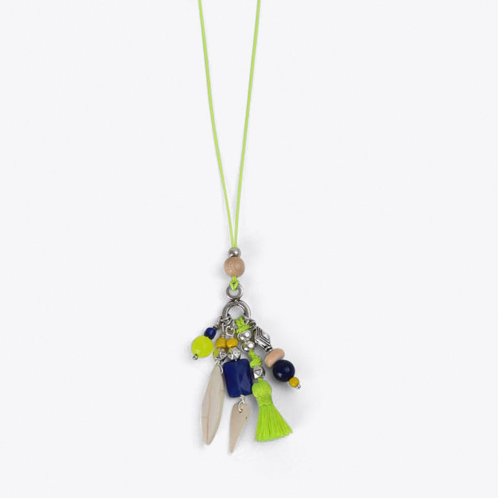 Charm Cluster Necklace in Yellow