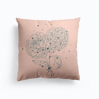 Pink Flowers Cushion