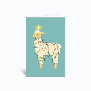 Holiday Llama Greetings Card