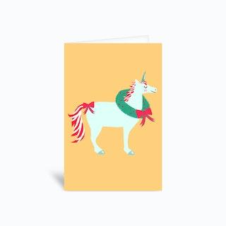 Holiday Unicorn Greetings Card