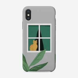 Window Cat Phone Case
