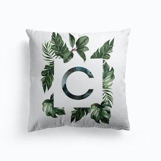 Botanical Alphabet E Cushion