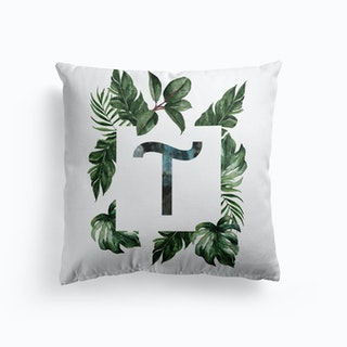 Botanical Alphabet A Cushion
