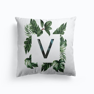 Botanical Alphabet J Cushion