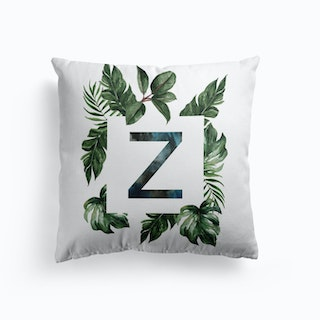 Botanical Alphabet V Cushion