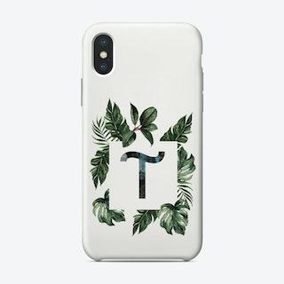Botanical Alphabet T Phone Case