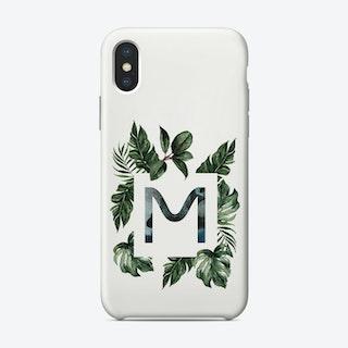 Botanical Alphabet M Phone Case