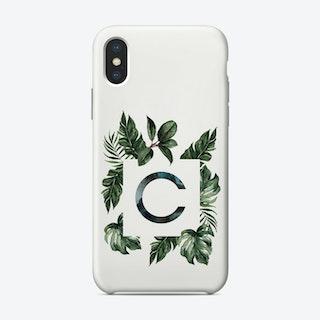 Botanical Alphabet C Phone Case