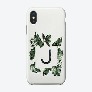 Botanical Alphabet J Phone Case