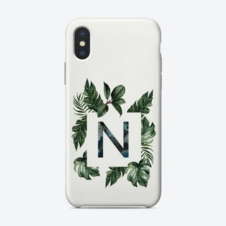 Botanical Alphabet N Phone Case