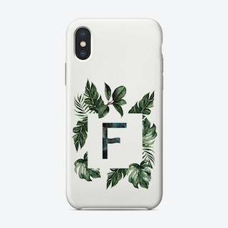 Botanical Alphabet F Phone Case
