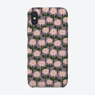 Pink Paper Cutout Flower Pattern Phone Case