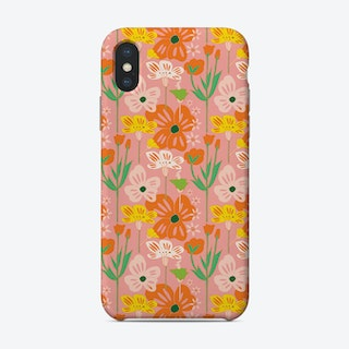 Pink Meadow Pattern Phone Case