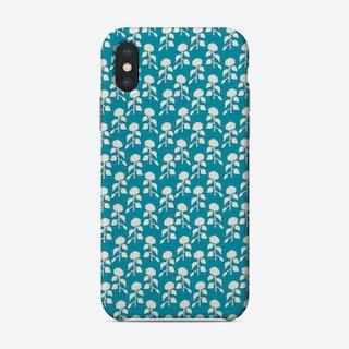 Sunflower Silhouette Pattern Phone Case
