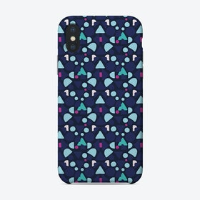 Blue Boom Of Shapes Phone Case