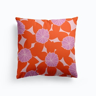 Purple First Day Of Summer Cushion
