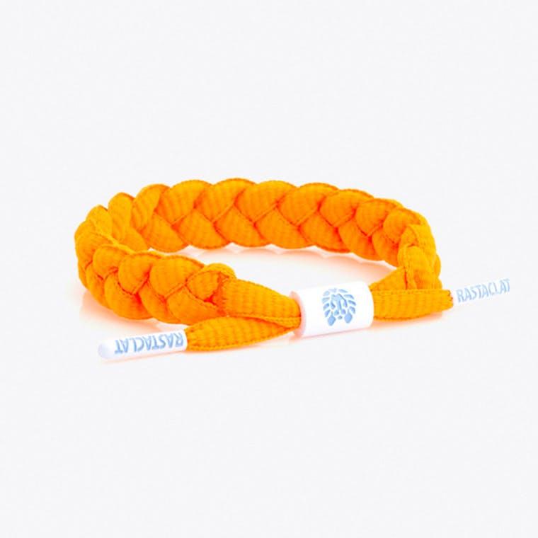 Shoelace Bracelet in Neon Orange