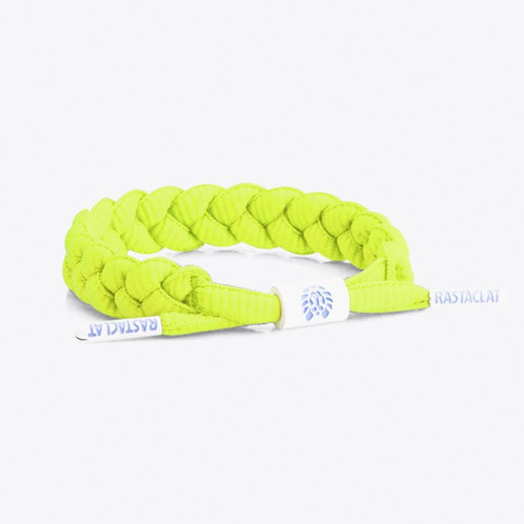 Shoelace Bracelet in Neon yellow