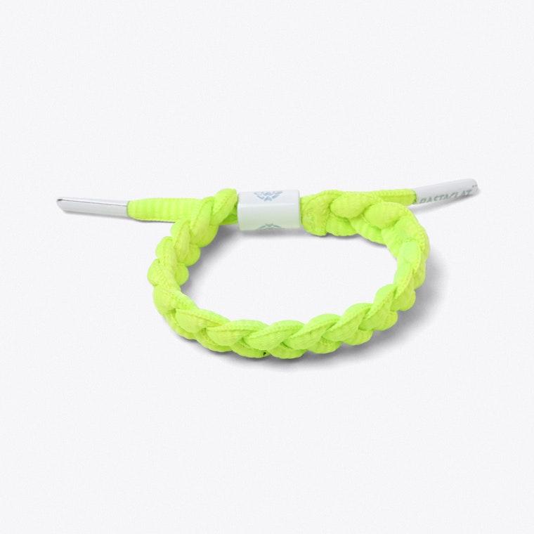 Shoelace Bracelet In Neon Yellow