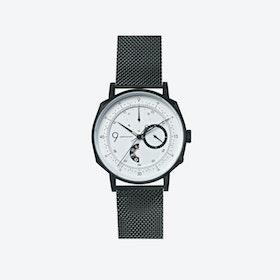 SQ39 Novem Matte Black Watch w/ Black Milanese Strap