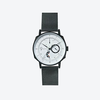 SQ39 Novem Matte Black Watch w/ Black Milanese Strap