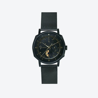 SQ39 Novem Matte Black Watch w/ Premium Black Milanese Strap